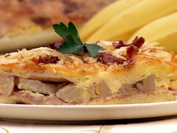 Cheesy Ham and Banana Casserole