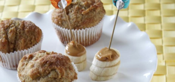 Recipe Banana, Peanut Butter and Honey Muffins