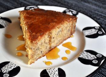 Banana Cake with Orange Caramel Glaze