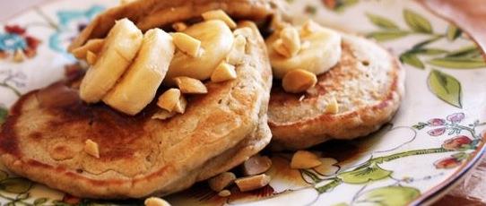Recipe Whole Wheat Peanut Butter Banana Pancakes