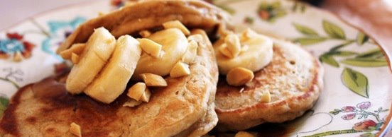 Healthy Recipe Whole Wheat Peanut Butter Banana Pancakes