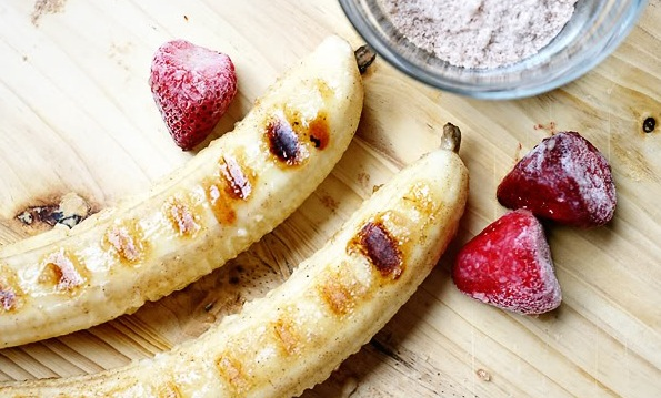 Memorial Day Weekend Organics Unlimited Grilled Bananas