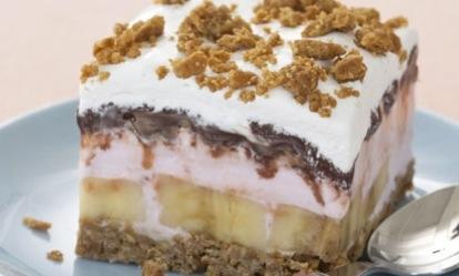 Banana Split Ice-cream Cake