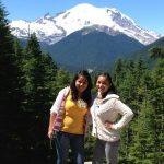 Naye and Adriana near Mt. Rainier