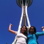 Naye and Tatiana at the Space Needle