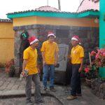 GROW scholars Isaias & Cristobal flank a fellow student at the Juke Box